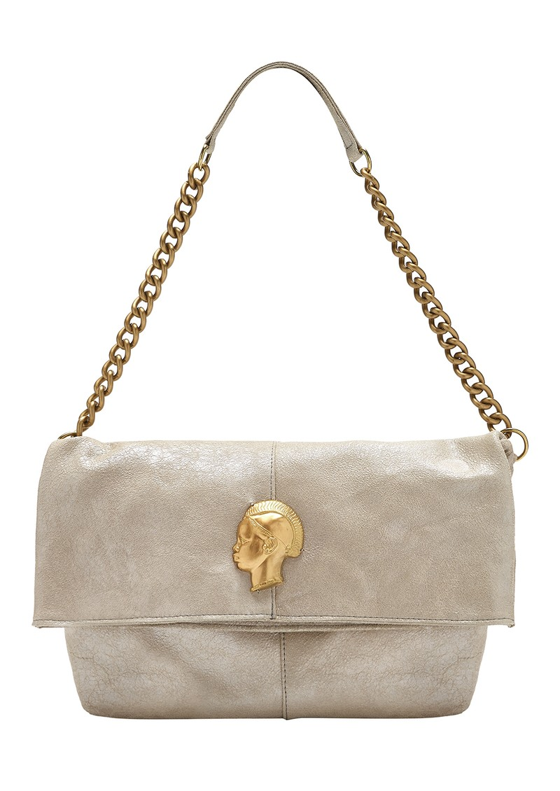 Sous Les Paves Spritz Fold Over Bag - Silver & Gold main image