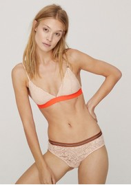 LOVE STORIES Darling Lace Padded Bralette - Sand Knit