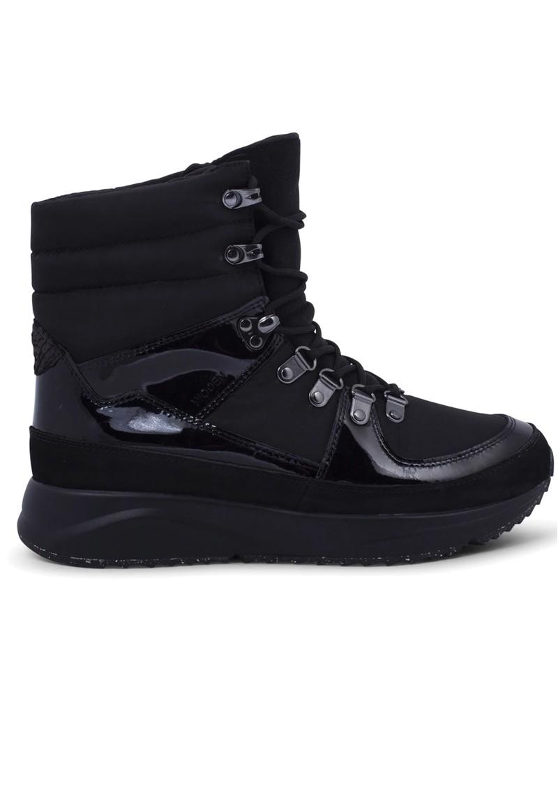 WODEN Emma High Top Waterproof Boot - Black main image