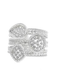 ANNA BECK Beaded Triple Ring - Silver