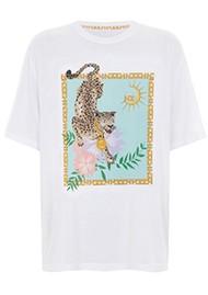 HAYLEY MENZIES Block Leopard T-Shirt - White & Leopard
