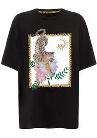 HAYLEY MENZIES Block Leopard T-Shirt - Black & Leopard