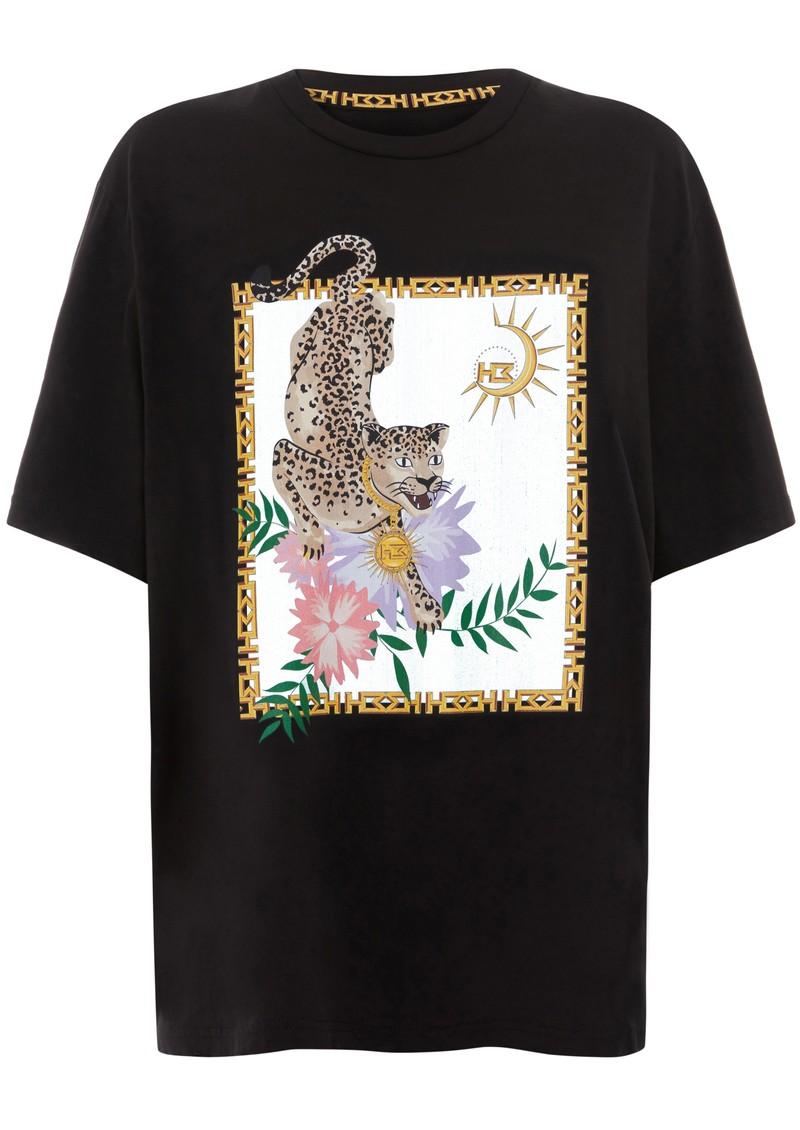 HAYLEY MENZIES Block Leopard T-Shirt - Black & Leopard main image