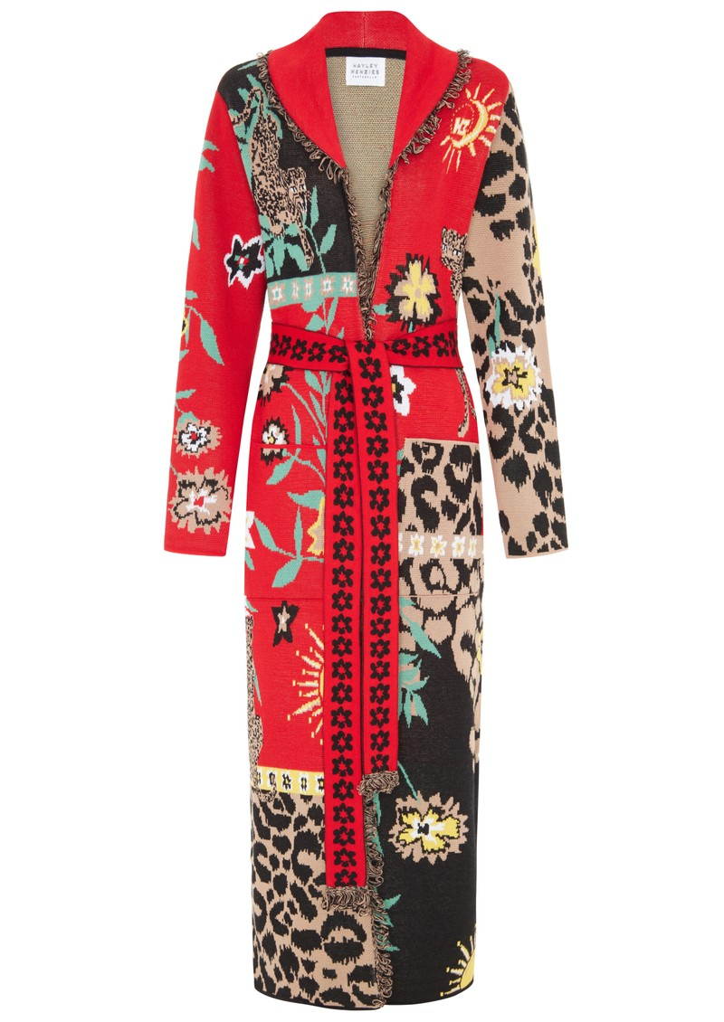 HAYLEY MENZIES Long Cardigan With Belt - Enchanted Leopard main image