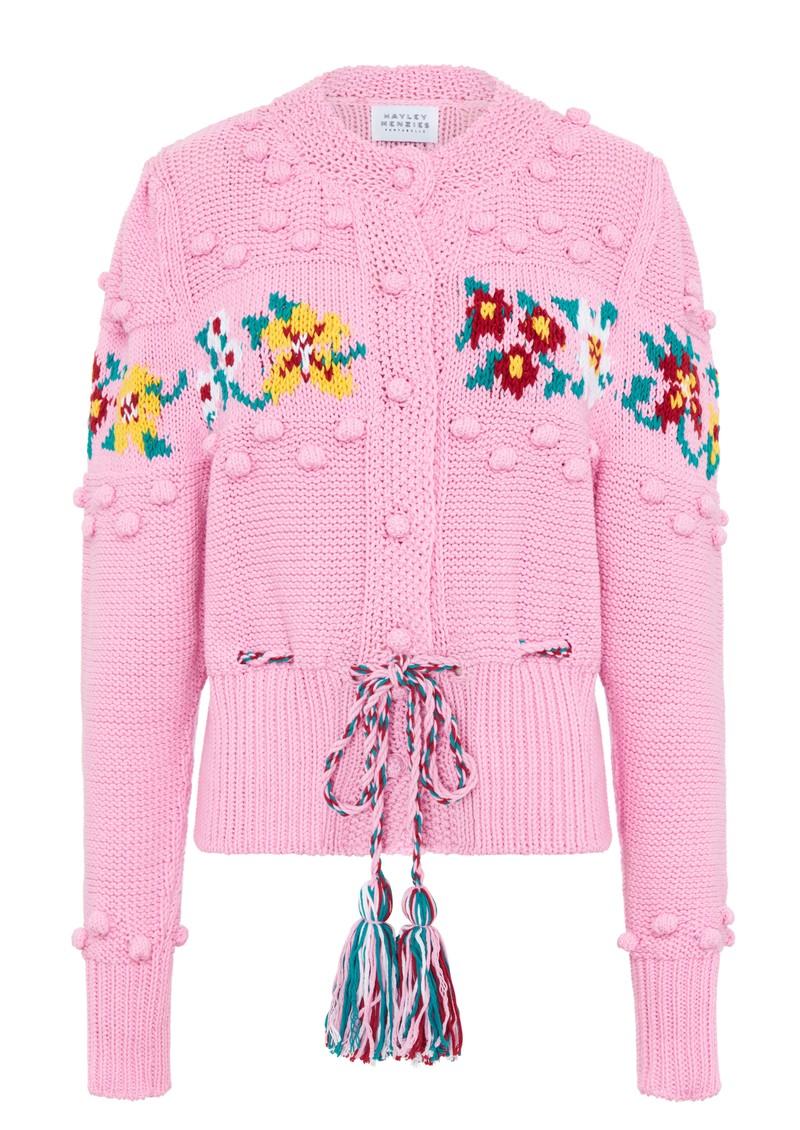 HAYLEY MENZIES Gladys Short Cardigan - Pink main image