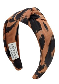 HAYLEY MENZIES Silk Knot Alice Band - Ikat