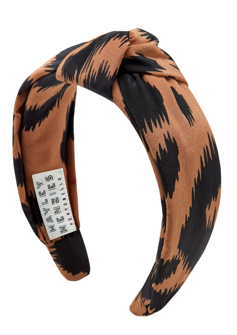 HAYLEY MENZIES Silk Knot Alice Band - Ikat main image