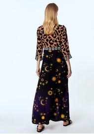 HAYLEY MENZIES Long Silk Shirt Dress - Ikat Superstar Struck