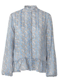 LEVETE ROOM Harvest 2 Top - Blue Floral
