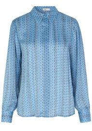 LEVETE ROOM Hazel Shirt - Light Blue Floral