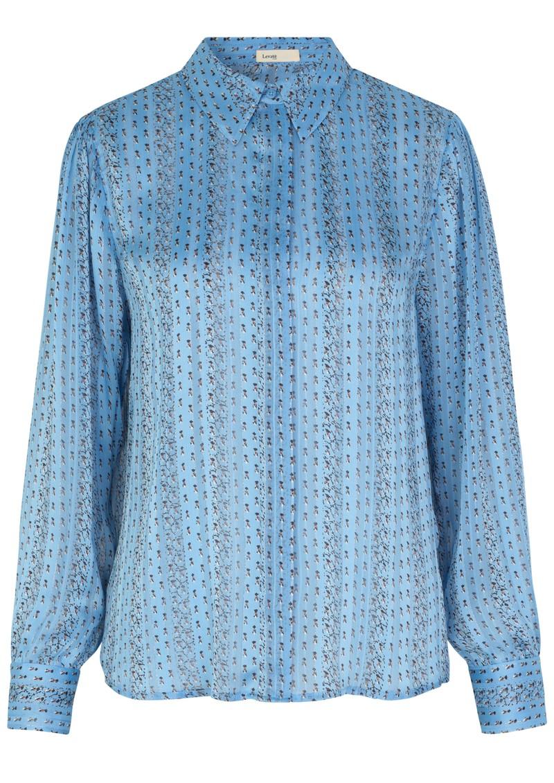 LEVETE ROOM Hazel Shirt - Light Blue Floral main image