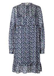 LEVETE ROOM Harvest 3 Dress - Blue Floral