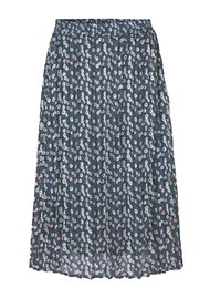 LEVETE ROOM Harvest 4 Skirt - Blue Floral