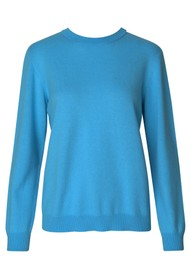 LEVETE ROOM Funda Crew Neck Jumper - Blue