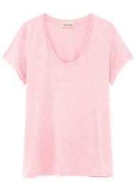 American Vintage Jacksonville U Neck Short Sleeve T-Shirt - Wild Rose