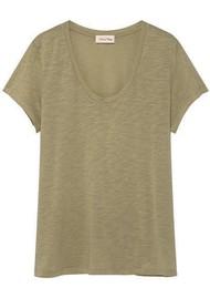 American Vintage Jacksonville U Neck Short Sleeve T-Shirt - Vintage Verbena