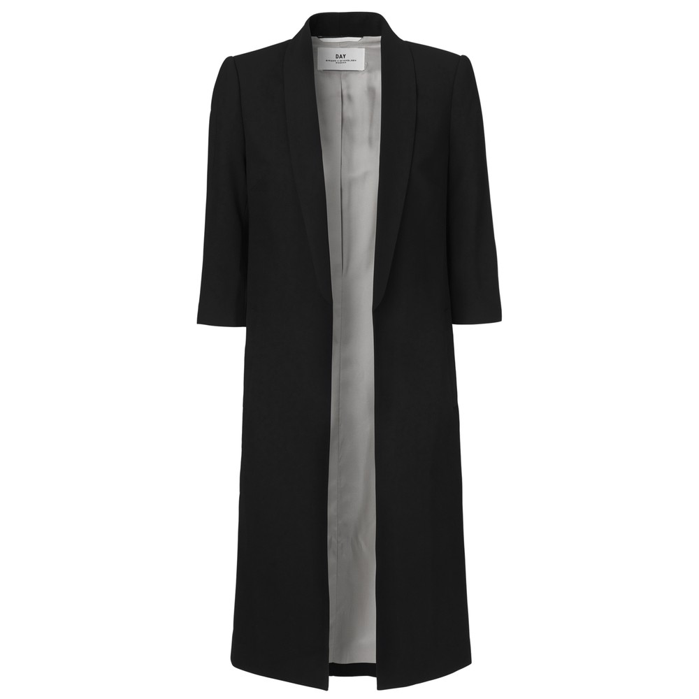Day Classic Gabardine Long Blazer - Black