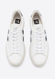 VEJA Campo Leather Trainers - White & Nautico