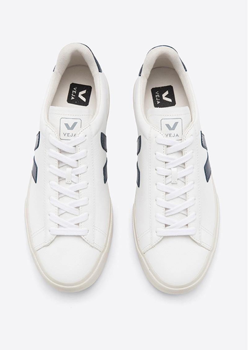 VEJA Campo Leather Trainers - White & Nautico main image