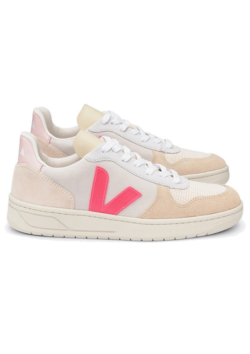 V-10 Suede Trainers - Multico, Natural & Rose main image