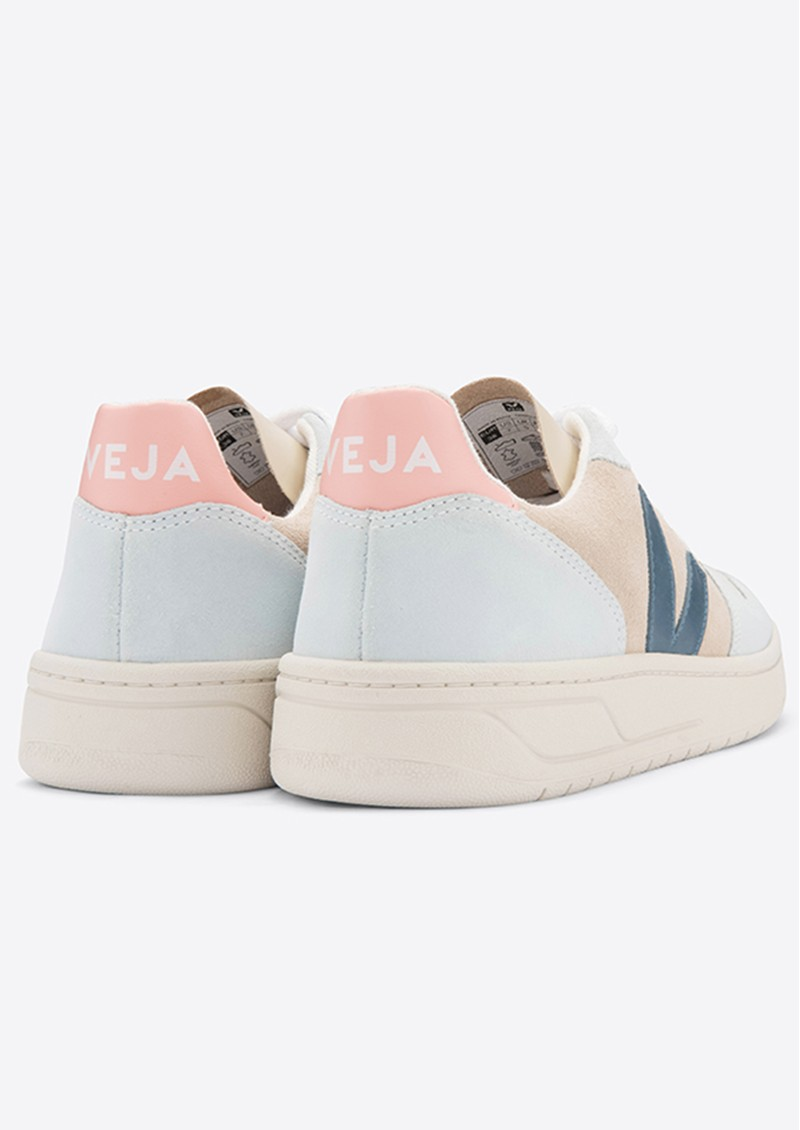 VEJA V-10 Suede Trainers - Multico, Almond & California main image