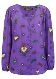 STARDUST Betty Heart Blouse - Purple