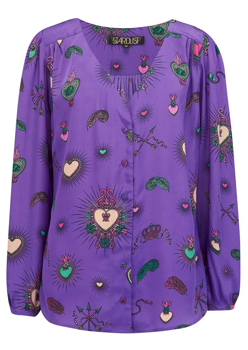 STARDUST Betty Heart Blouse - Purple main image
