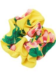HAYLEY MENZIES Silk Printed Scrunchie - Eden Yellow