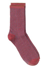 Becksondergaard Dina Small Dots Socks - Raspberry Wine