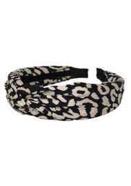 UNIVERSE OF US Leo Printed Headband - Black & White
