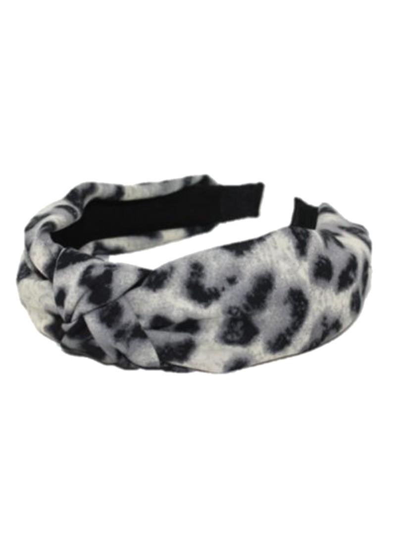 UNIVERSE OF US Slim Leopard Headband - Grey main image