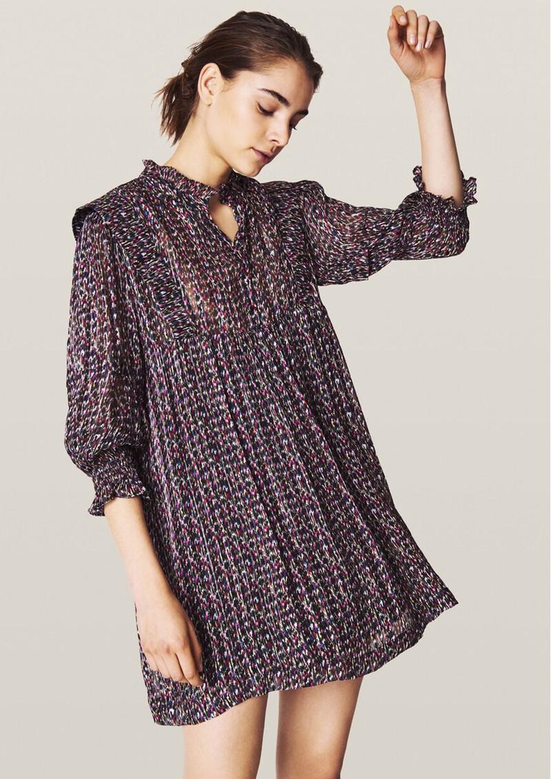 Ba&sh Deep Short Dress - Black main image