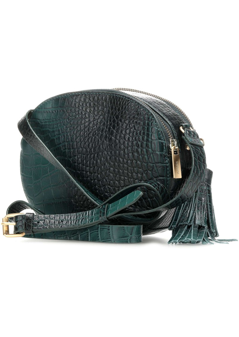 DAY ET Day Rome Croco Leather Bag - Emerald Green main image