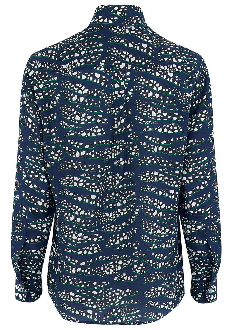 Mercy Delta Goodwood Silk Shirt - Tiger Shark Sea main image