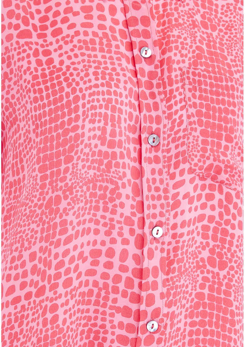 Mercy Delta Goodwood Silk Shirt - Crocodile Mermaid main image