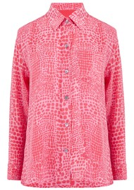 Mercy Delta Goodwood Silk Shirt - Crocodile Mermaid