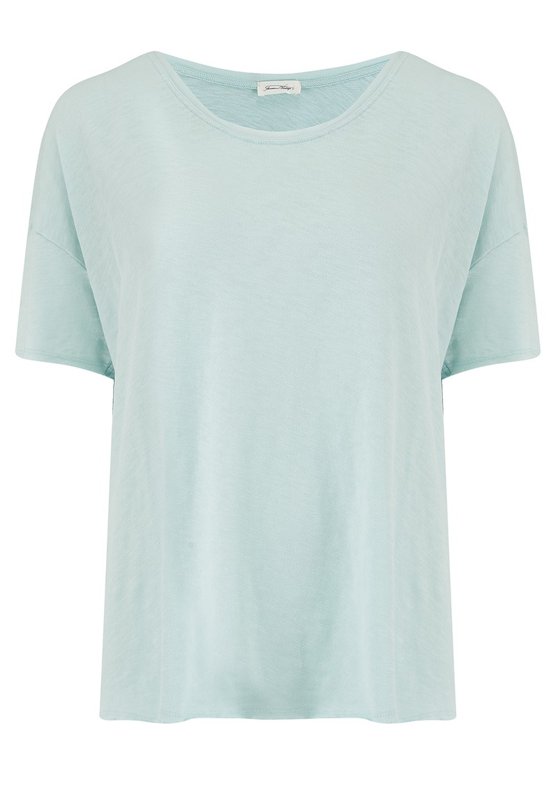 American Vintage Sonoma Short Sleeve Top - Baby Blue main image