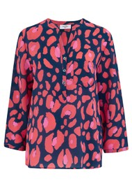 Mercy Delta Stanford Blouse - Lynx Sea