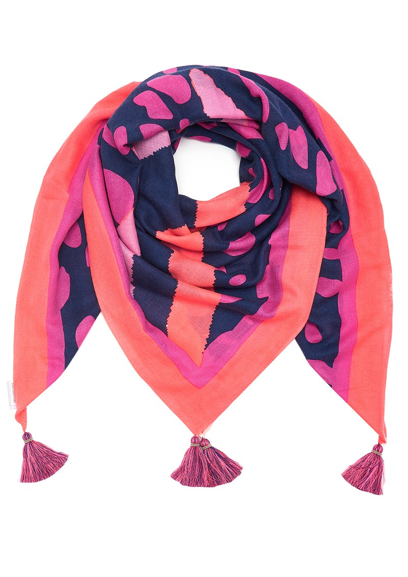 Mercy Delta Square Cashmere Mix Scarf - Fame Mermaid main image