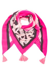 Mercy Delta Square Cashmere Mix Scarf - Fame Pink