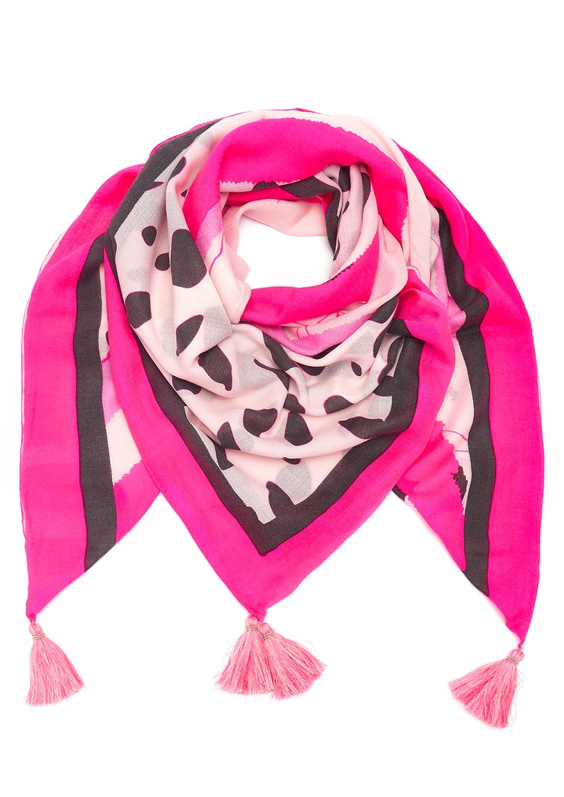 Mercy Delta Square Cashmere Mix Scarf - Fame Pink main image