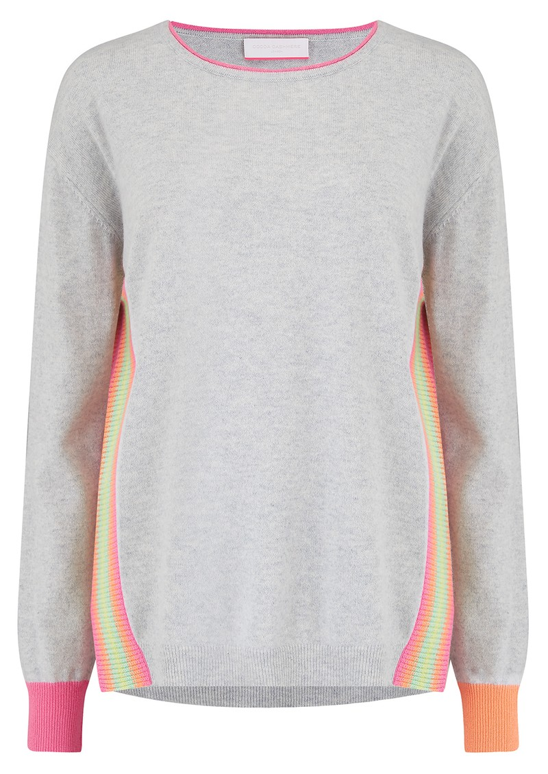 COCOA CASHMERE Anna Jumper - Cloud & Pink main image