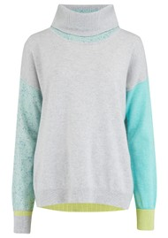 COCOA CASHMERE Penny Roll Neck Cashmere Jumper - Cloud