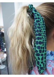 Mercy Delta Silk Printed Scrunchie - Crocodile Jungle