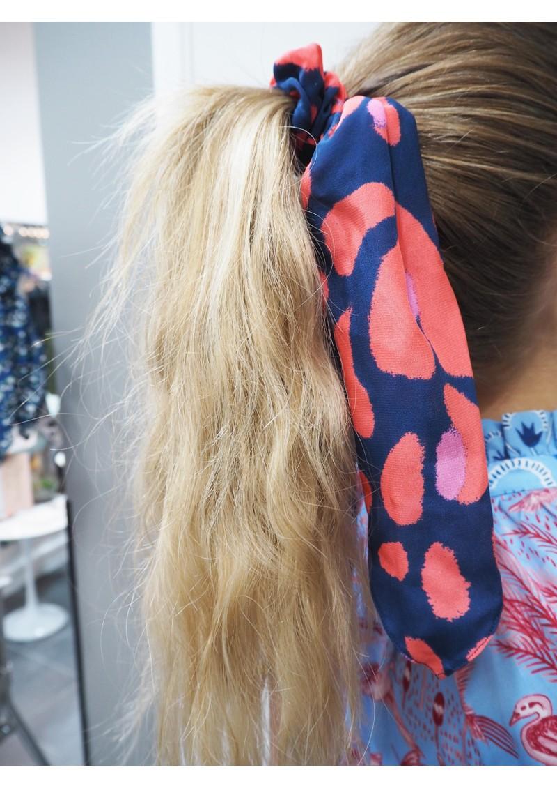 Mercy Delta Silk Printed Scrunchie - Lynx Sea main image