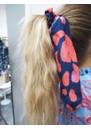 Mercy Delta Silk Printed Scrunchie - Lynx Sea