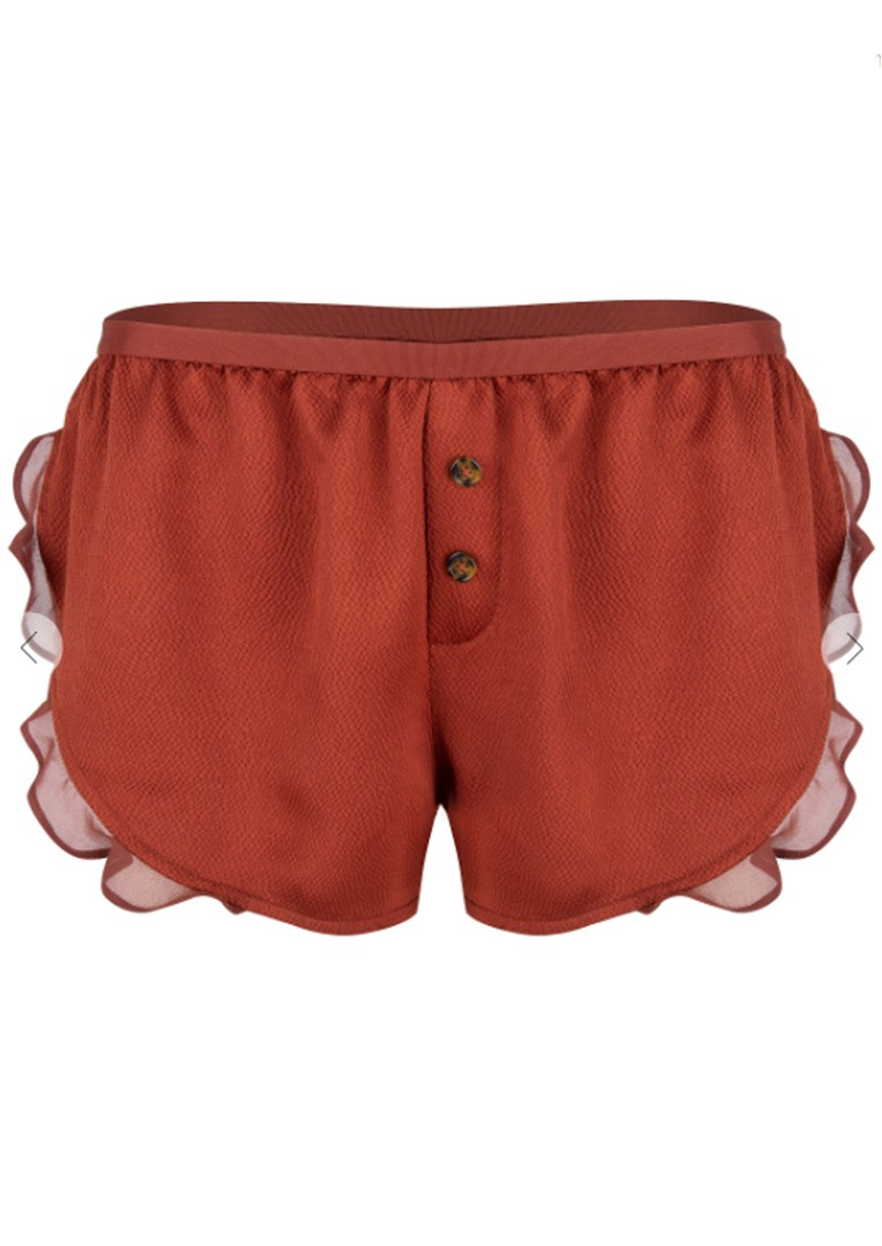 LOVE STORIES Mae PJ Shorts - Chocolate  main image
