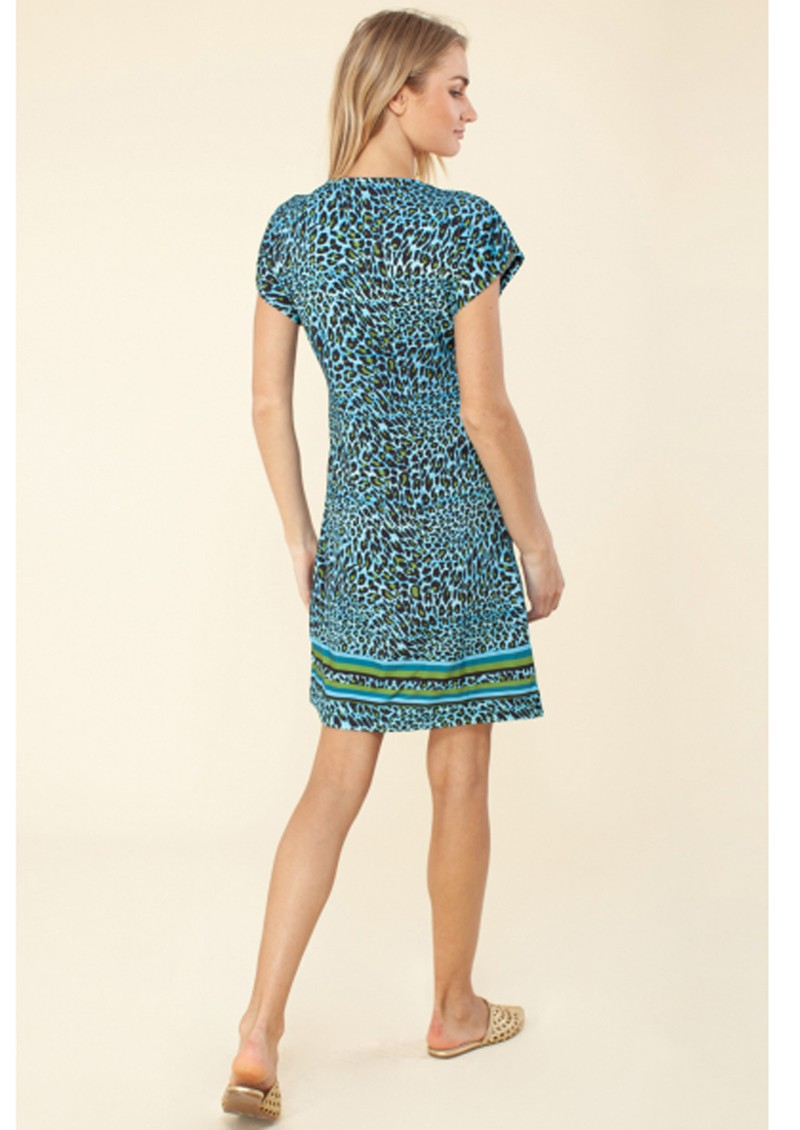 Hale Bob Janae Jersey Beaded Dress - Blue  main image