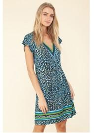 Hale Bob Janae Jersey Beaded Dress - Blue