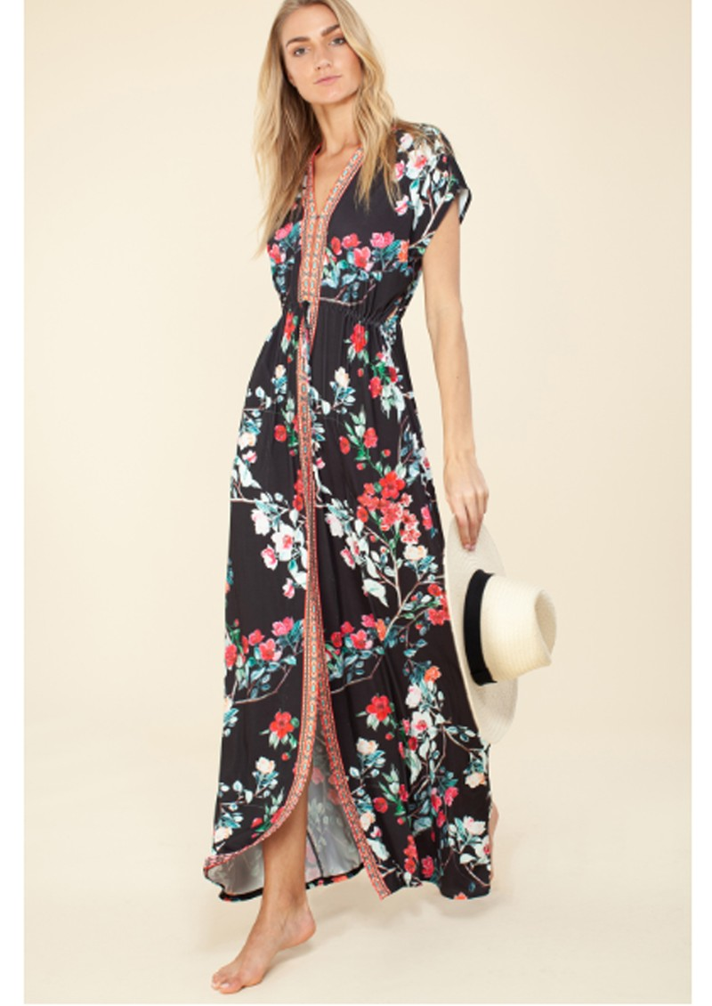 Hale Bob Misha Jersey Maxi Dress - Black main image